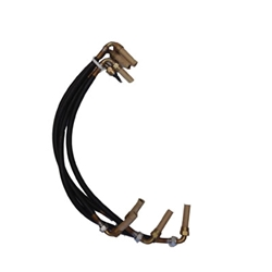Ignition cable set M38- with correct 90 deg elbows at each end with break nut 801111
