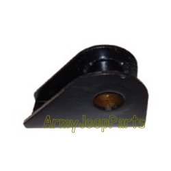 MB GPW M151 M38 CJ Willys Ford WII MV spring shackle to frame Bracket - Includes threaded bushing A544
