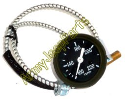 MB GPW M151 M38 CJ Willys Ford WII MV Temperature gauge GPW F Marked GPW10883