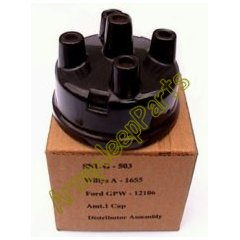 MB GPW M151 M38 CJ Willys Ford WII MV Distributor Cap Brown A1655