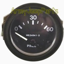 Oil pressure gauge, 24v assembly Reproduction M151 M151A1