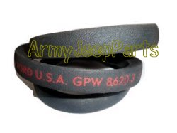 MB GPW M151 M38 CJ Willys Ford WII MV Fan Belt - GPW GPW8620A
