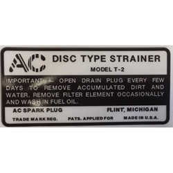 decal T-2 fuel filter