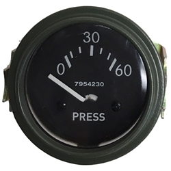 Oil Pressure, Gauge 24v with clamp 0-60 119085