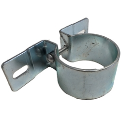 MB GPW M151 M38 CJ Willys Ford WII MV Mounting Bracket cuno filter to cylinder head bracket. Round band clamp. 120640