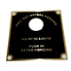 MB GPW M151 M38 CJ Willys Ford WII MV Data plate, fording control - Brass. 800537